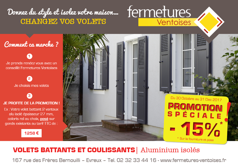 Promotion volets battants novembre 2017