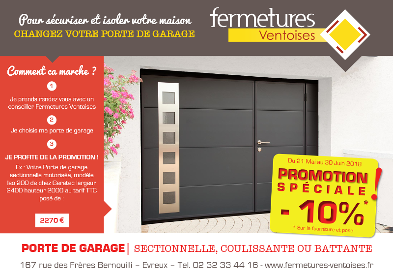 Promotion Porte de garage Juin 2018